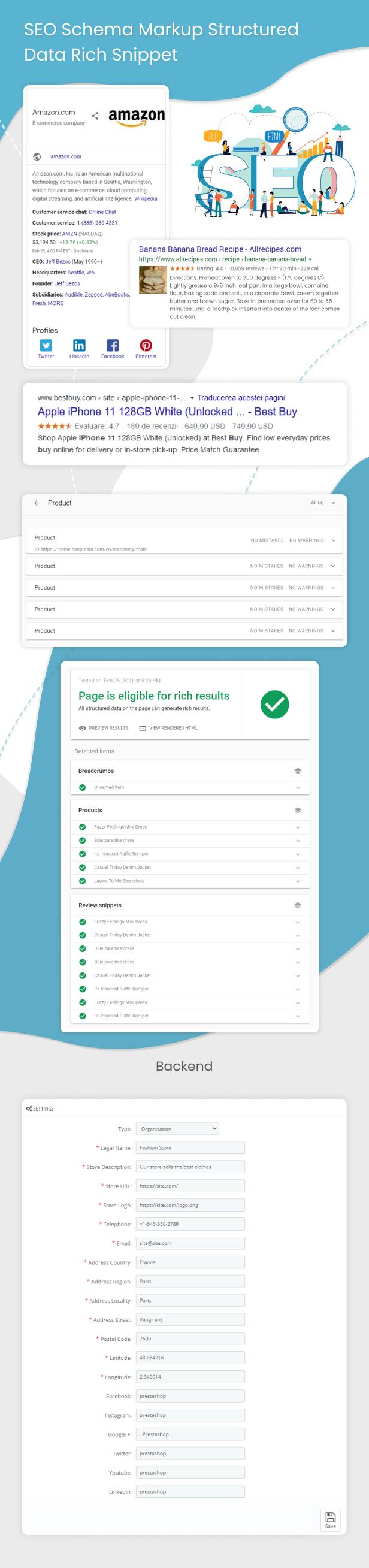 Prestashop SEO Schema Markup Structured Data Rich Snippet