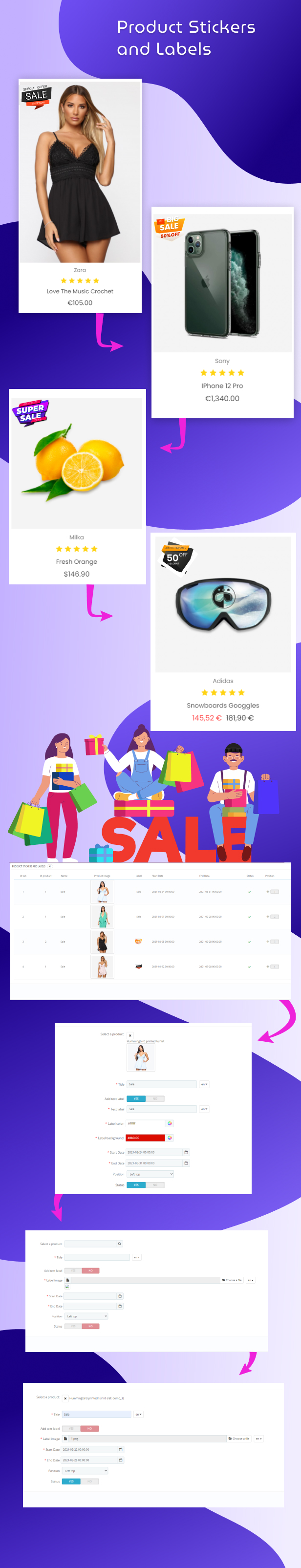 Prestashop Product Stickers and Labels