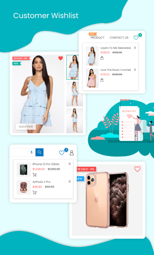 Prestashop Customer Wishlists & Favorites Products List