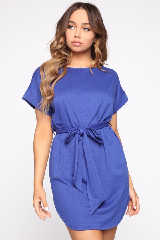 Over It Tie Waist Dress