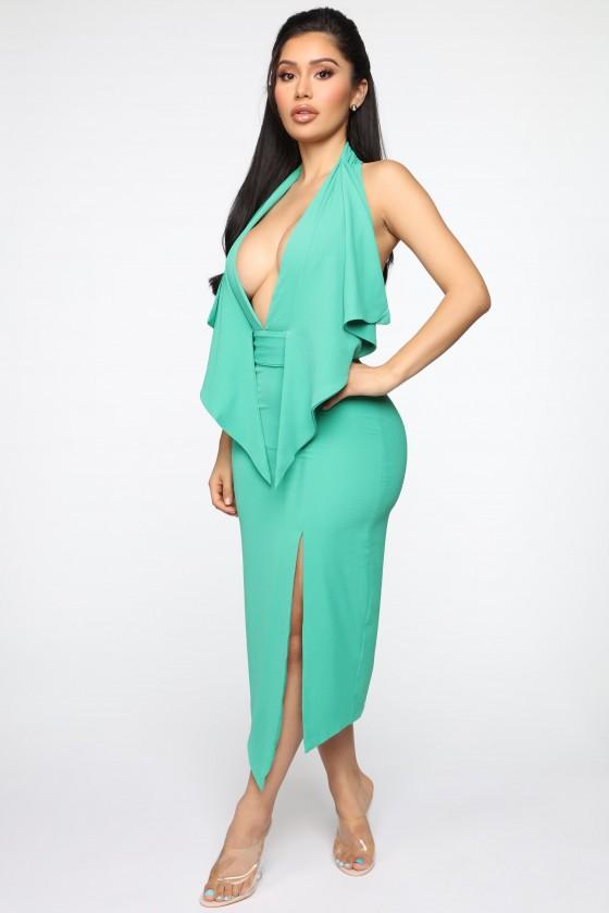 Detailed Sophistication Midi Dress