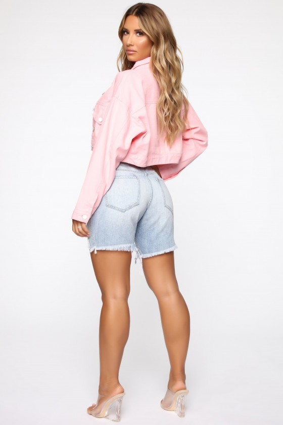 Casual Friday Denim Jacket - Pink